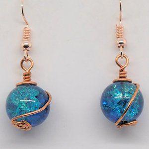 Rose Swirl Earrings